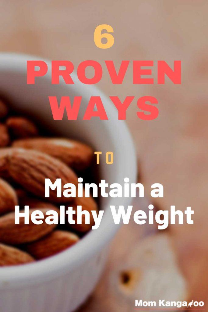 proven ways maintain healthy weight pinterest